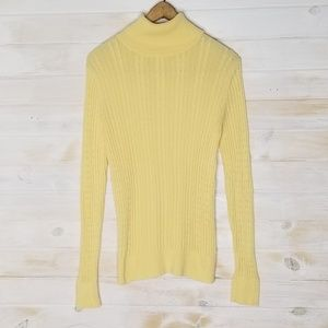 Croft & Barrow Sweater 100% Cotton Turtleneck